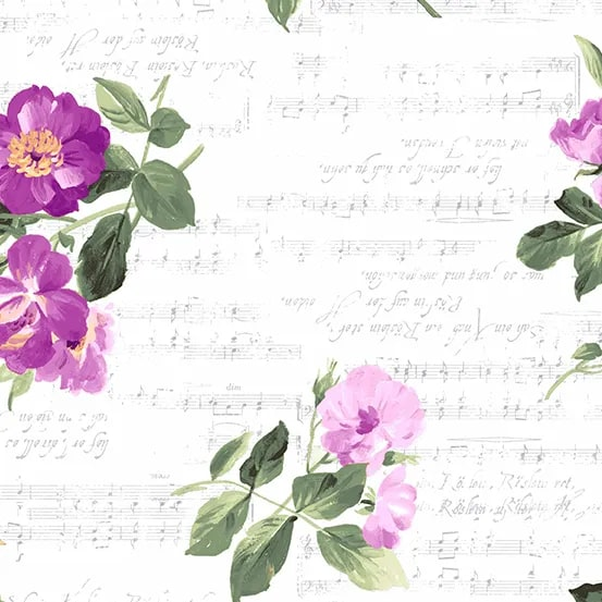 Andover Symphony Roses and Script