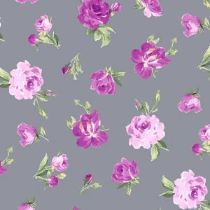 Andover Symphony Roses on Grey